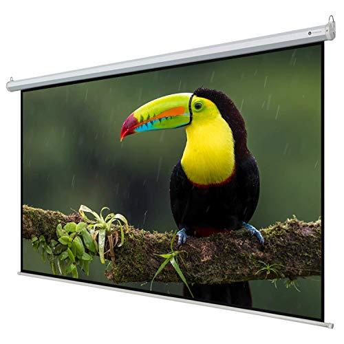 """Homegear 110"""" HD Motorized 16:9 Projector Screen W/ Remote Control"""