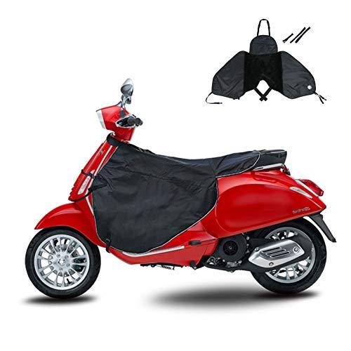 PW TOOLS Coprigambe per Scooter Coprigambe Impermeabile per Scooter Grembiule Antivento per Gambe Calde per Scooter, Auto elettriche (Nero)