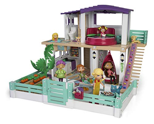 Mymy City- Holiday House, Casita de muñecas amueblada, para