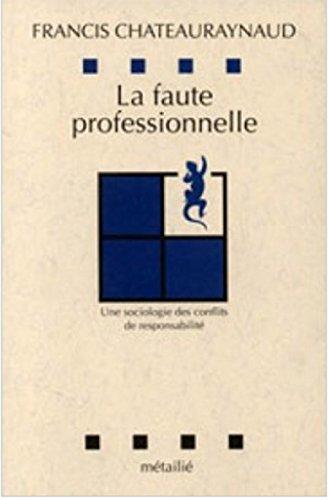 La faute professionnelle. Une sociologie des conflits de responsabilité