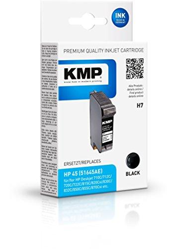 KMP H7 - Cartucho de Tinta, Negro