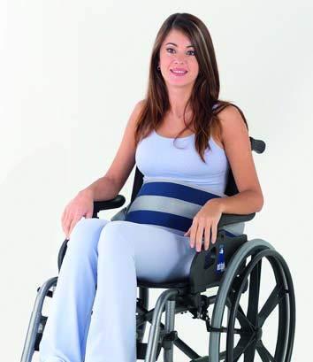 Obbocare Bauchgurt zur Befestigung am Rollstuhl | Clipverschluss (Größe 1)