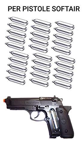 30 Pezzi Bombolette CO2 Bomboletta per Softair GAS Ricarica Pistola 12 Grammi