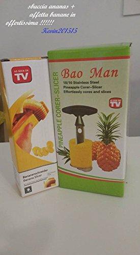 MWS Sbuccia, Taglia e affetta Ananas in Acciaio Inossidabile