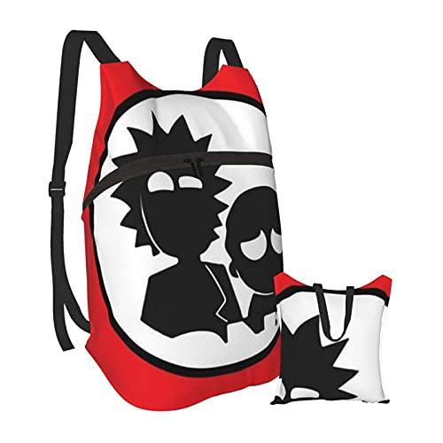 Yuanmeiju Programa de televisión Ri-Mor-ty divertida mochila portátil plegable, ultraligera, portátil, resistente al agua, para viajes, senderismo, mochila, mochila