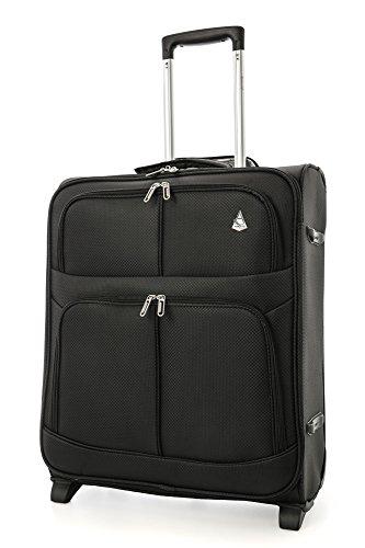 Aerolite Ligero Easyjet y British Airways Ba máxima Cabin Subsidio Maleta Equipaje de Mano Viaje 56x 45x 25con 2Ruedas (55cm, 60L, Negro)