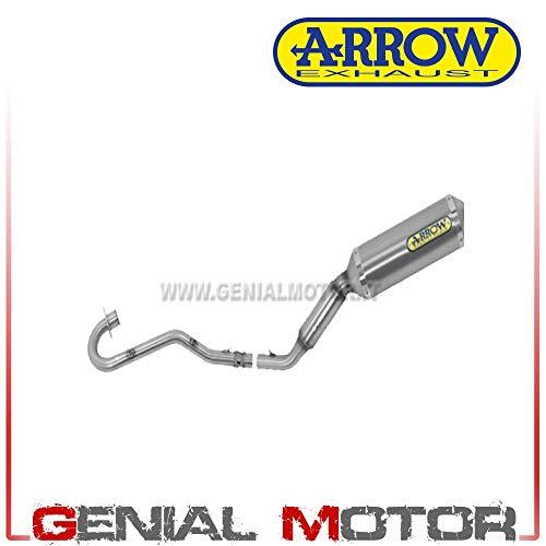 52001MI+52501AO Komplett Auspuff Arrow Thunder Aluminium Xr 125 L 2004 > 2005
