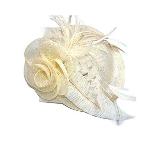 Bibi chapeau de cérémonie, pour mariage ou grande occasion-4617