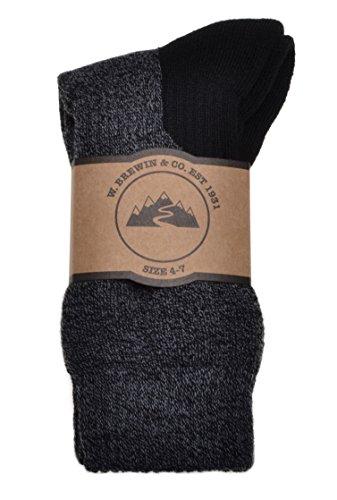 2 Pairs of Wool Coolmax Walking socks Ladies/ Medium 4-7 Black