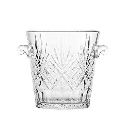 Cubo para Hielo Cubo de hielo de vidrio Cubo portátil Portátil Cubo de hielo Cubo de vino Cubo de vino Champagne Bucket Bebida Cubo ACTIVIDADES Y CAMPING VATIBLES Cubo de Hielo Aislante ( Color : A )
