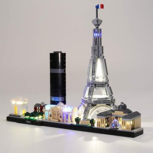 K9CK LED Licht Set für Lego Modell - DIY Leuchtende Bausteine Beleuchtung Kit für Lego Architecture Paris 21044 - Modell Nicht Enthalten
