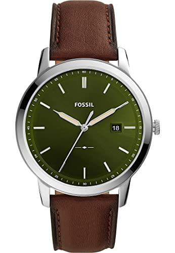 Fossil Herren-Uhren Solar One Size Grün 32017195