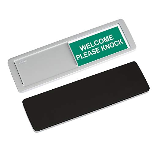 """Do Not Disturb Sign, Yarkor Welcome Door Sign for Office, Conference / Meeting Room, Bathroom, Hotel, Restroom, Classroom Privacy Sign - Magnetic / Double-Sided Tape Option, 7"""" x 2"""" Slider Indicator"""
