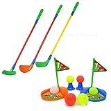 キッズ ゴルフセット 子供 おもちゃ ゴルフ クラブ ドライバー アイアン パター ゴルフボール ティカップ ホール フラッグ