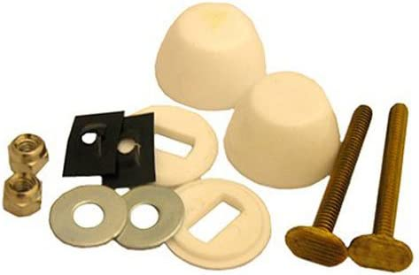 FixtureDisplays Closet Bolts and 2 Brass Plated washers 12185-BLACKSWAN-50PK-NF No 2 Brass Plated Open-end Nuts - 2 Brass Bolts Bagged Brass Style 1