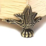 Leisial 4 pièces Petit Pied d'angle décoratif en metal pour boîte à bijoux,...