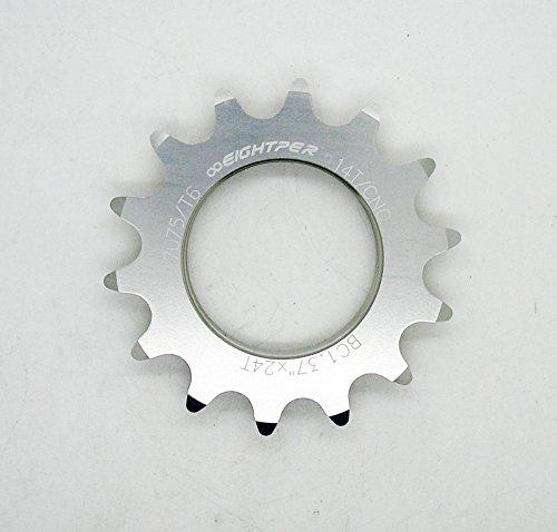 Piñon Fijo para Bicicleta Fixie Single Speed Ruder Berna 14T Aluminio Color Plata Mecanizado CNC 3606
