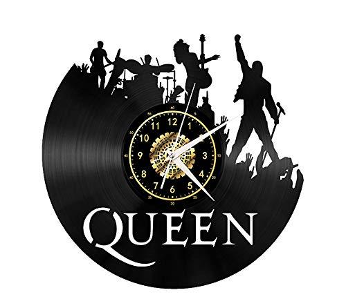 """Xiayanmei Queen Vinyl Record Wanduhr Fan-Kunst-Dekor Originelles Geschenk Einzigartige dekorative Vinyl Clock Schwarz 12\"""" (30 cm),I"""