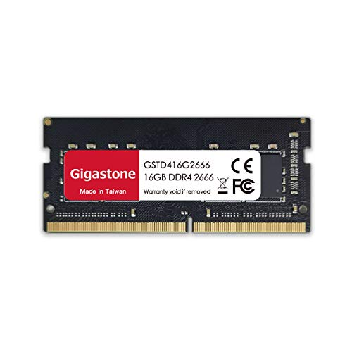 Gigastone 16 GB DDR4 Memoria RAM 2666 MHz PC4-21300 Unbuffered Non-ECC 1.2 V CL19 SODIMM RAM di Memoria 260 Pin Ideale per Desktop, Computer, Laptop