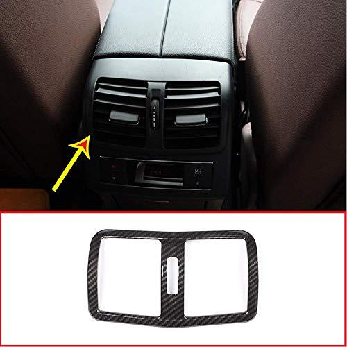 Style de Fibre de Carbone d'équilibre de Cadre de dégagement d'air de Sortie d'air de rangée arrière de Voiture en Plastique d'ABS pour la Classe E W212 2012-2015
