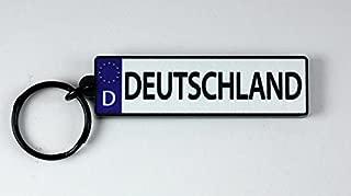 Germany EU License Plate Acrylic Keychain 3