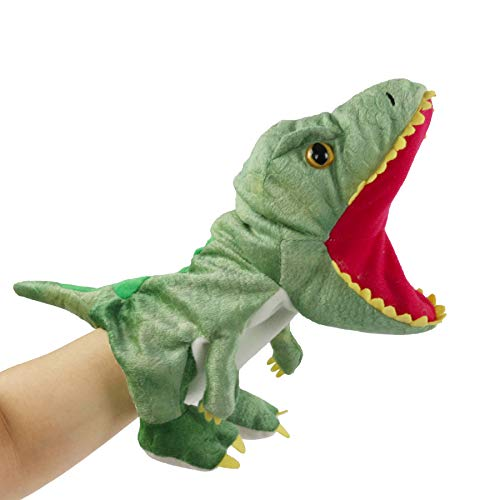 Bstaofy Plush Dinosaur Hand Puppet T-rex Stuffed Toy Open Movable Mouth for Creative Role Play Gift for Kids Toddlers on Birthday Christmas, 10.5'' (Style 1)