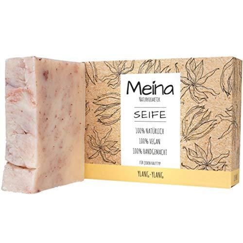 Meina Naturkosmetik - Handgemachte Naturseife, Bio Seife mit Ylang-Ylang ohne Palmöl, Vegan, Handgemacht (1 x 100 g)