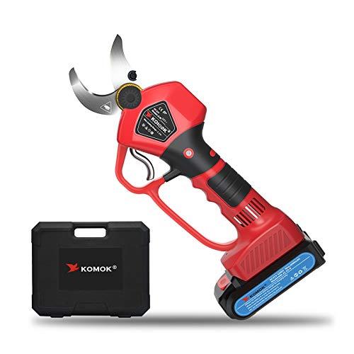 KOMOK - Tijeras de podar eléctricas inalámbricas, herramientas inteligentes para huertos y...