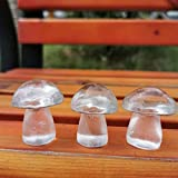 K-ONE 3 Piezas de Cristal de Cuarzo Claro Natural Seta Piedra de ágata Seta Pulida meditación Reiki curación