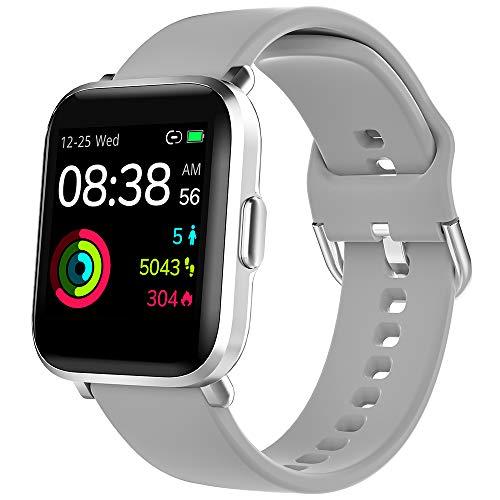 Smartwatch, YONMIG Fitness Tracker 18 Sportmodi 1.3 Zoll Touch-Farbdisplay Smart Watch Pulsoximeter Pulsuhr IP68/ 5ATM Wasserdicht Sport Uhr Kompaß Schrittzähler Stoppuhr für Kinder Damen