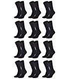 Tommy Hilfiger Pack de 12 calcetines para hombre negro 47-49