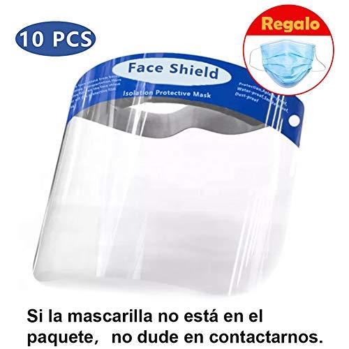 Pantalla Protección Facial - Protector Facial de Seguridad, Cómoda, Visera Ajustable, Reutilizable, Ligera, Azul- para Hombres y Mujeres (10)