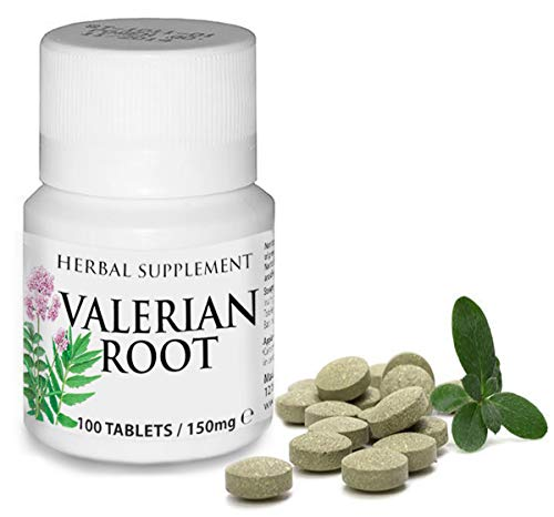 Herbal Supplement Valerian Root 75mg - 100 Tablets (3 Month Supply) Aids in Healthy Natural Sleep, Controlling Anxiety & Stress Management Depression