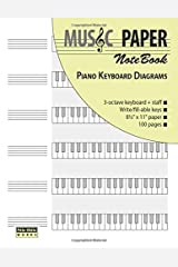 MUSIC PAPER NoteBook - Piano Keyboard Diagrams (The Piano) Paperback