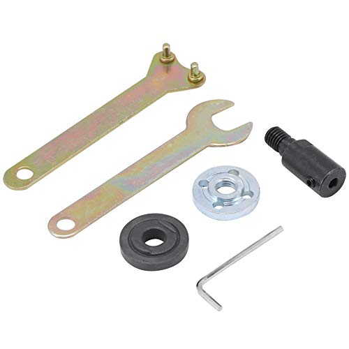 Vbestlife Acoplador de Eje de Motor M10-5/8/10 / 12mm Adaptador de portabrocas de Sierra de Acoplamiento de Hoja de Sierra de Manga para Amoladora Angular(M10-5mm)