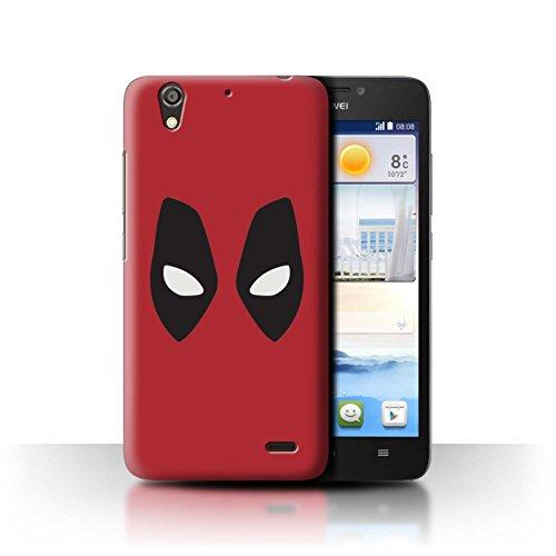 Hülle Für Huawei Ascend G630 Superheld Comic-Kunst Deadpool Maske Inspiriert Design Transparent Ultra Dünn Klar Hart Schutz Handyhülle Case