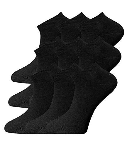 Joop! Damen Sneaker Kurzsocken Füßlinge 760001 9 Paar, Farbe:Schwarz;Strumpf-/Sockengröße:35-38;Artikel:-2000 black