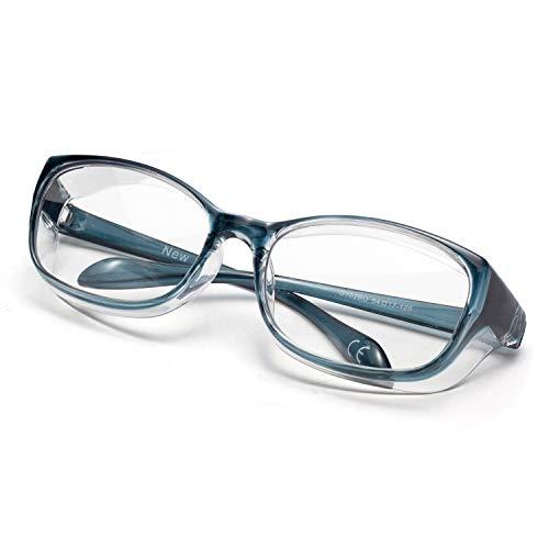LianSan AntiFog AntiSaliva Safety Glasses UV Protection HD Blue Light Blocking Goggles for Men Women Blue