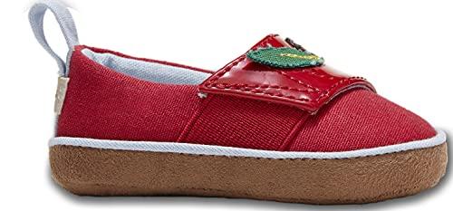 TOMS Baby Alpargata Crib Shoe, red, 3 US Unisex Infant
