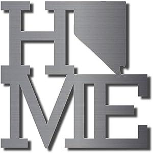 Home State Nevada Metal Wall Art Unpainted Home Decor | 11