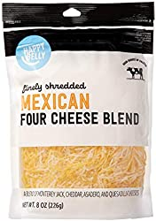 Amazon Brand - Happy Belly Shredded Mexican Four Cheese Blend, 8 Ounce