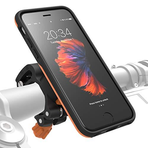 MORPHEUS LABS M4s Handyhalterung Fahrrad iPhone 6/ 6s Fahrradhalterung Halterung & iPhone 6/ 6s Hülle magnetisch fürs Rad, DropTest, mit Quick Lock, Bike-Kit passend für meisten Lenker orange