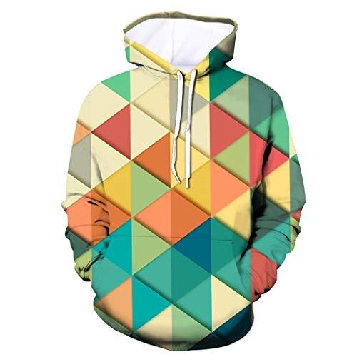 KPILP Herren Hoodie 3D Druck Kapuzenpullover Unisex Multicoloured Hoodies Langarm Sweatshirts Digitaldruck Tunnelzug Pullover Langarmshirt mit Tasche