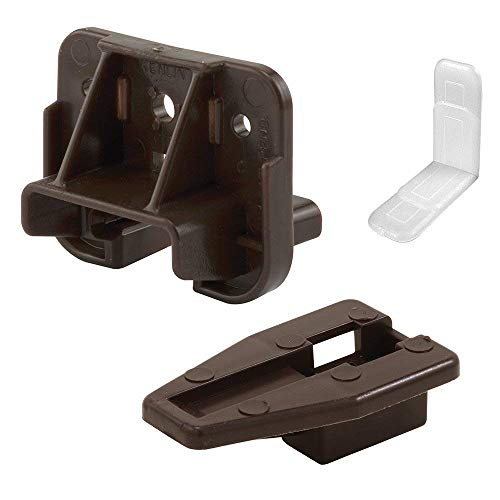Prime-Line R 7321 Drawer Track Guide and Glides - Replacement Furniture Parts for Dressers, Hutches and Night Stand Drawer Systems (4)