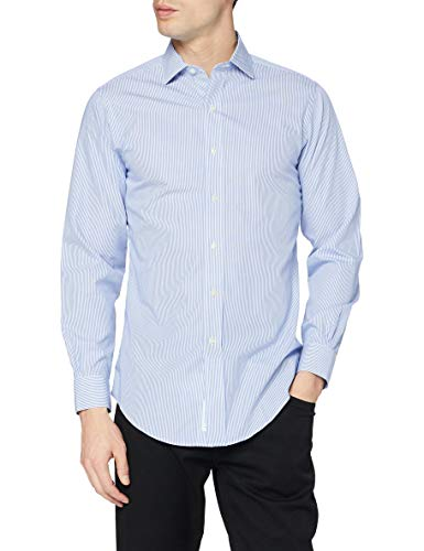Brooks Brothers Camicia Regent Manica Lunga Chemise Business, Turquoise (Light/Pastel Blue 455), X-Large (Taille Fabricant: 17H 35) Homme