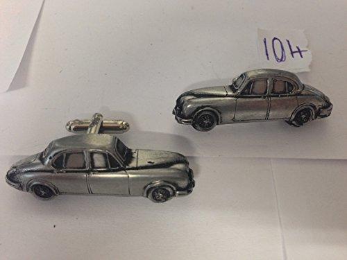 Jaguar Mk2 3,8 3D-Manschettenknöpfe Zinn-Manschettenknöpfe Oldtimer ref104