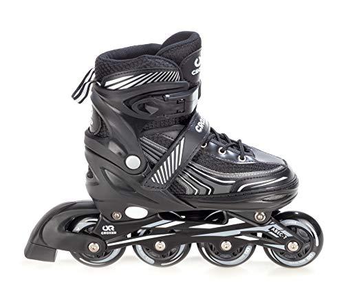 Croxer Inline Skates Inliner Optima Black verstellbar (Black, 39-42(24cm-26,5cm))
