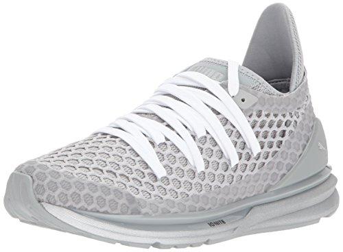 PUMA Women's Ignite Limitless Netfit NC Wn Sneaker, Quarry-Gray Violet Silver, 7 M US