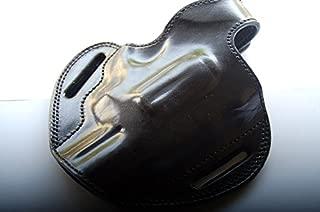 Cal38T617 Taurus 617 Revolver 7 Shot 357 Magnum Handcrafted Leather Belt Holster Black,Tan R.H
