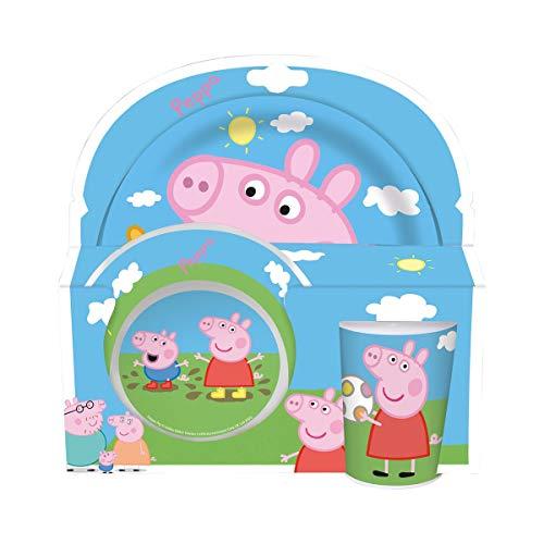Peppa Pig 3tlg Melaminset In Offener Geschenkverpackung